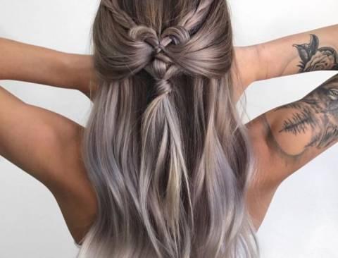 От темного к светлому: модная растяжка цвета на волосах