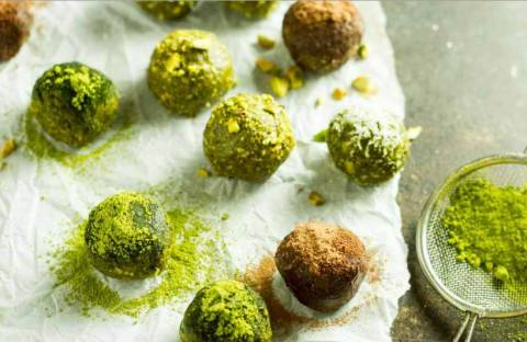 Рецепты полезных шариков с чаем матча