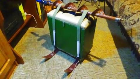 Изготовление саней для зимнего ящика