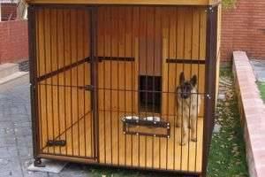 Вольер для собаки своими руками — с какого материала, каких размеров должны быть апартаменты питомца