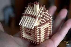 Строим терем-теремок: как сделать домик из спичек
