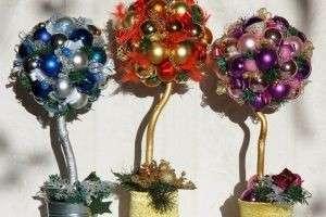 Новогодний топиарий своими руками — как «посадить» в доме дерево счастья