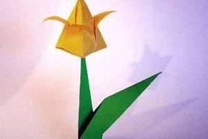Тюльпан из бумаги своими руками — мастер-класс