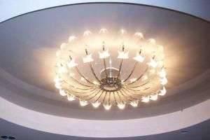 Как выбрать люстру и светильники для натяжного потолка?