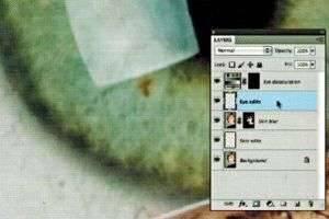 Детали ретуши отдельных частей фотографии