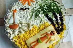 Как украсить салаты - фото и видео для праздничного стола