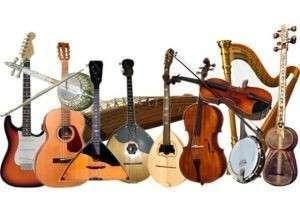 Виды струнных музыкальных инструментов: щипковые, смычковые и ударные