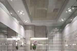 Какой потолок выбрать для ванной комнаты: натяжной, реечный, гипсокартонный?