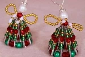 Новогодние украшения из бисера для себя или в подарок