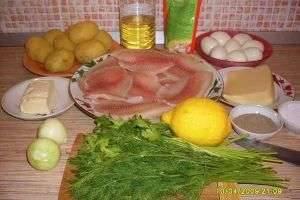 Тилапия, запеченная в польском соусе