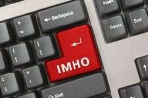 ИМХО: что это значит? Свобода мнений в пространстве Сети