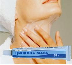 Цинковая мазь для разглаживания морщин на шее