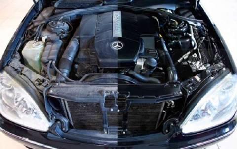 Как очистить двигатель от мазута?