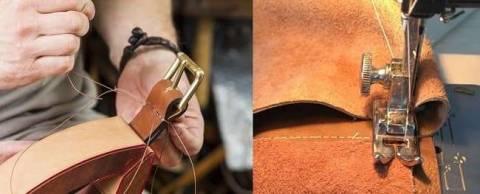 Как правильно шить кожу