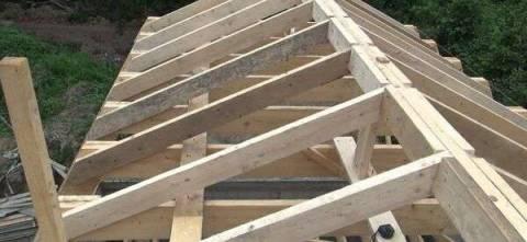 Крыша мансарда, укрепление стропил
