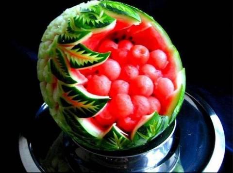 Мастерство фигурной резки по фруктам – карвинг