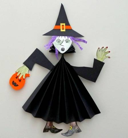 Декорации на Хэллоуин из бумаги