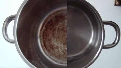 Убрать нагар со сковороды