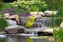 Водопады для дачи своими руками: как сделать красивое оформление?