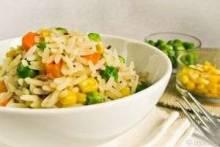 Как приготовить рис с кукурузой и горошком