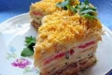 Как приготовить рыбный торт из коржей «Наполеон»: быстрый и вкусный рецепт