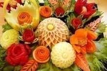 Украшения из овощей и фруктов своими руками