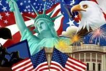 Символы США: статуя Свободы, гамбургер, бейсбол