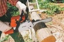 Как правильно пилить деревья бензопилой: техника валки больших и маленьких деревьев