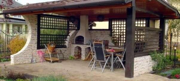 Как самому построить летнюю кухню на даче своими руками