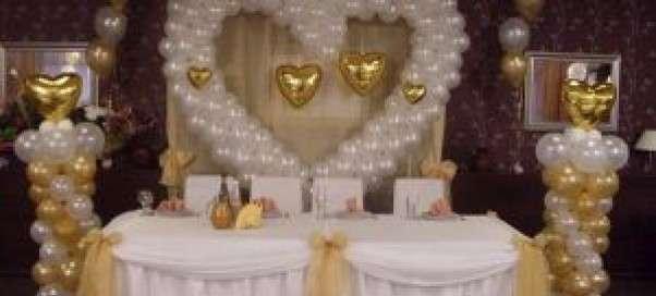 Оформление свадебного зала воздушными шарами